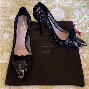 Kate Spade Black Lace Pumps 9.5